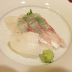 松由 - イカと鯛のお造り