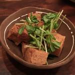 71855811 - カラッと揚げた島豆腐のにんにく醤油
