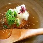花菜 - お昼のランチのあんかけ焼きおにぎり