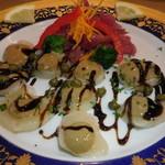レストラン山水 - 北海道産帆立貝柱のカルパッチョ