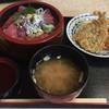 市場寿し - 料理写真:鯵とマグロのミックス丼 950円