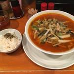 菊長 - だぁだぁ麺(800円)+サービスライス