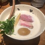 牛骨ら~めん ぶっこ志 - 煮玉子牛白湯 880円