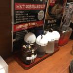 元祖博多 中洲屋台ラーメン 一竜 - 薬味たち