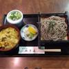 のざき - 料理写真:ミニ丼セット かつカレー丼&ざるそば  ¥950