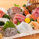 魚河岸 丸天 - ここだけでしか食べることのできない『近海刺身盛り合わせ定食』