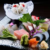 海人 - 好みの予算に合わせて、料理長が厳選してくれる。厳選された旬魚を味わい尽くす『料理長厳選こだわり刺盛』