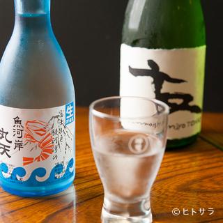魚介と相性抜群、オリジナルブランドの『丸天焼酎』