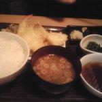 蕎麦・天ぷら 権八 - 天ぷら定食@1650円