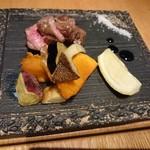 ファクトリーカフェ - 牛カルビのグリルステーキ