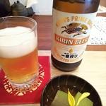 71877647 - 瓶ビールとお通し