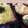 つるつる - 料理写真:鶏天ざるラーメン