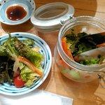 魚肴おばんちゃい - サラダはジャーで