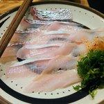 魚肴おばんちゃい - しゃぶしゃぶの魚(鯛、カンパチ、穴子)