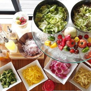 【ランチ】長崎地野菜サラダブッフェ