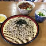 三原屋食堂 - 料理写真:半ソースかつ丼とざるそばセット