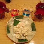 7189732 - 白子の焼き物 + 日本酒 獺祭大吟醸 +山廃純米(福井県?)
