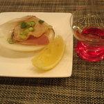 7189733 - 焼き蛤 + 日本酒 立山?