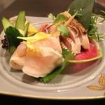 九州薩摩地鶏 薩摩次郎 - 地鶏のタタキ
