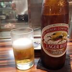 お好み焼 きじ - 「瓶ビール(キリンラガー大瓶)」(660円)