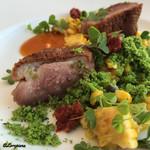 リストランテ・ジャニコロ・ジョウキ - 色彩豊かな鴨肉のアロースト