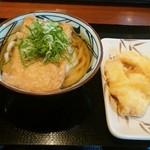 丸亀製麺 - きつねうどん(並) 420円+かれい天 150円+いか天 110円