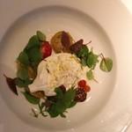 71898329 - ブラタチーズとトマトの前菜