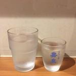 純手打ち讃岐うどん五郎 - 水 + 日本酒(まぼろしの酒 嘉泉)