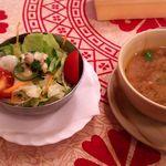 ピーコック - サラダ、スープ
