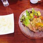 71903575 - 【北新地でランチ】 バームクーヘン豚とリンゴのソテー シードルソース \900