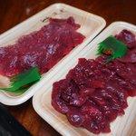 マカベ精肉店 - ロース、モモ100gずつ