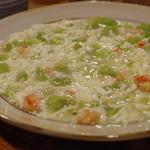 中華料理 帆 - 空豆と蟹の卵白炒め