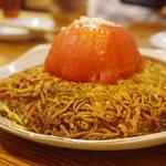 中華料理 帆 - エビとトマト両面焼きそば