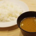 そよいち - 味噌汁、ご飯