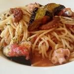 ランテルナ - 料理写真:溺れタコと揚げナスのトマトソース