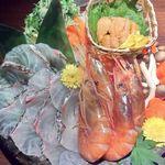 北新地個室 松六 - 海鮮雲丹しゃぶしゃぶ(海鮮割烹 極上コース/料理10品)