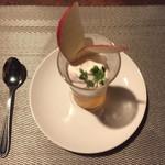 コッソリ - 白ワインジュレとりんご