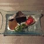 コッソリ - デザートのガトーショコラと紅茶のカタラーナ