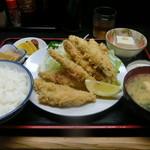 太田や食堂 - ししゃもフライ定食