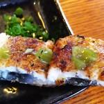 原田うなぎ屋 - 素焼きはわさびのっけると美味しいねぇ。