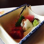 日本料理松風庵 - 造り(本マグロとタイ)