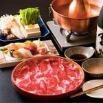 高級黒毛和牛しゃぶしゃぶ+寿司コース