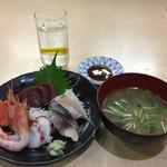 武蔵坊 弁慶 - ランチ刺身定食 950円(ご飯なし)