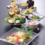 四季彩 - 鮮カルパッチョと旬の美味会席