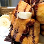 カフェ・マスミヤ - フレンチトースト チョコ&バナナ