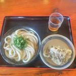 上野製麺所 - 冷やかけ(中)と舞茸天