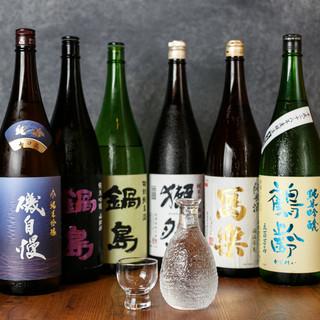 厳選した日本酒をはじめ、旨いお酒をご堪能!
