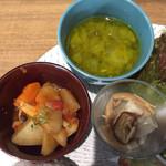 ルシッカ - スープ、野菜のトマト煮、胡麻豆腐
