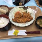 明石食堂 - ポークロースカツ定食