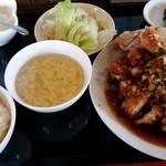 中国料理 王さん - 料理写真:2017/8 油淋鶏定食650円
